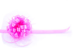 Pink Gift Bow ribbon Stock Images