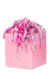 Pink gift box Stock Photos