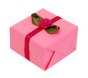Pink gift box Stock Images