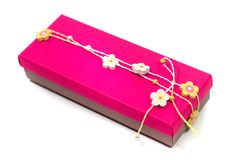 Pink gift box Stock Photo