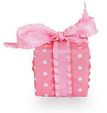 Pink gift box with bow Stock Images