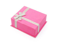 Pink gift box closed Stock Image