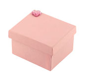 Pink gift box with diamond heart Stock Photography