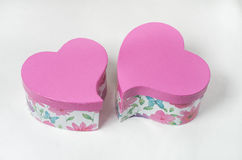 Pink gift box heart shaped Royalty Free Stock Images