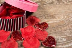 Pink gift box Stock Photos