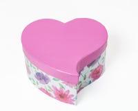 Pink gift box heart shaped Royalty Free Stock Photo
