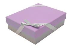 Pink gift box ribbon stock photos
