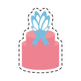 pink gift box ribbon present line dotted Stock Photos