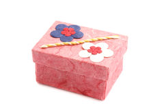 Pink Gift box  in white background Stock Image