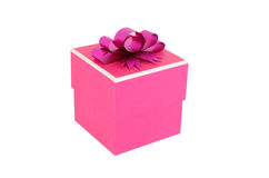 Pink gift box. On white background Stock Photography