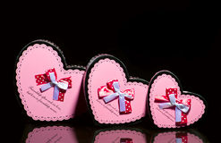 Pink gift boxes Royalty Free Stock Images