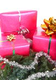 Pink gift boxes Royalty Free Stock Photo