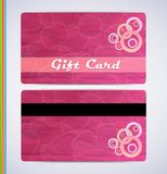Pink Gift Card Stock Photo