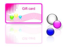 Pink gift card. vector Eps10. Royalty Free Stock Photo