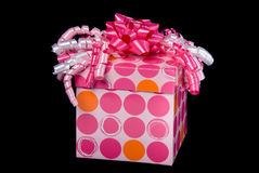 Pink gift and present Royalty Free Stock Images