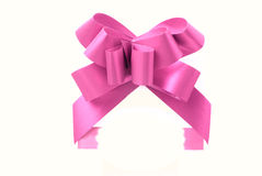 Pink gift ribbon Royalty Free Stock Images