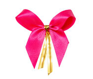 Pink gift ribbon bow Royalty Free Stock Image