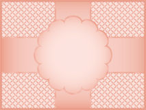Pink gift wrapper. Background vector illustration Royalty Free Stock Images