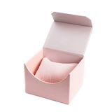 Pink giftbox on white open Royalty Free Stock Photos