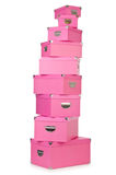 Pink giftboxes Royalty Free Stock Photography