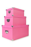 Pink giftboxes  on white Stock Image