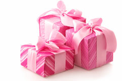 Pink gifts Royalty Free Stock Image