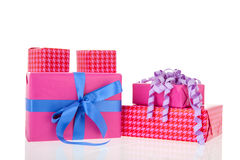 Pink gifts Stock Images