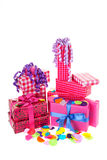 Pink gifts Royalty Free Stock Photography