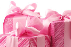Pink gifts close-up Stock Photo