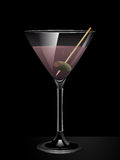 Pink gin cocktail. Background with olive Stock Image