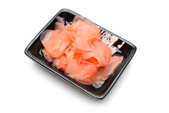 Pink ginger ingredient for sushi stock image