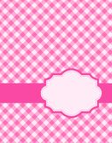 Pink gingham background. Pink gingham / squares background with frame. specially for baby themed / mother's day or any occasion greeting cards Royalty Free Stock Photography