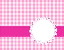 Pink gingham background. Pink gingham / squares background with frame. specially for baby themed / mother's day or any occasion greeting cards Royalty Free Stock Photos