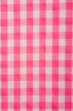 Pink Gingham Background. Pink and White Gingham or checked tablecloth background Stock Images