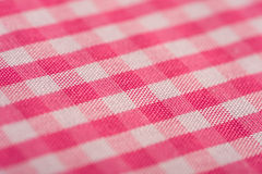 Pink Gingham Background. Pink Gingham or checked tablecloth background Stock Image