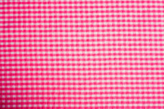 Pink Gingham Background. Gingham or checked tablecloth background Stock Images