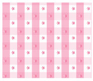 Pink gingham. Design with floral design Royalty Free Stock Photography