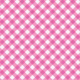 Pink gingham fabric cloth, seamless pattern included. Pink and white gingham cloth background with fabric texture, suitable for Valentine's Day and wedding Royalty Free Stock Image