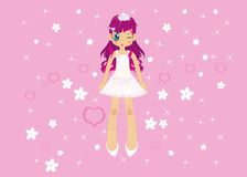 Pink girl. Cute little pink healthy girl royalty free stock photo