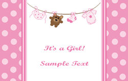 Pink Girl Announcement Royalty Free Stock Images