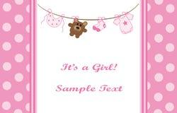 Pink Girl Announcement stock illustration