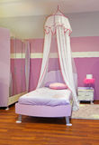 Pink girl bedroom Stock Images