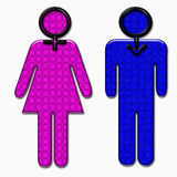 Pink for girl blue for men : standard Royalty Free Stock Images