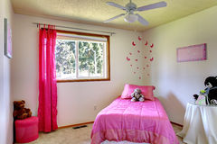 Pink girl room interior Royalty Free Stock Images