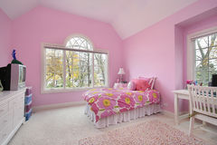 Pink girl's room Stock Image