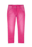 Pink girl trousers. Isolated on white Stock Photos