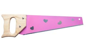 Pink girls handsaw Royalty Free Stock Photo