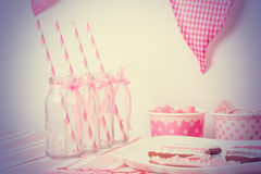 Pink girls party Stock Image