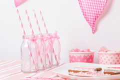 Pink girls party Stock Photo