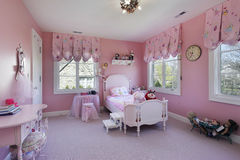 Pink girls room Royalty Free Stock Image